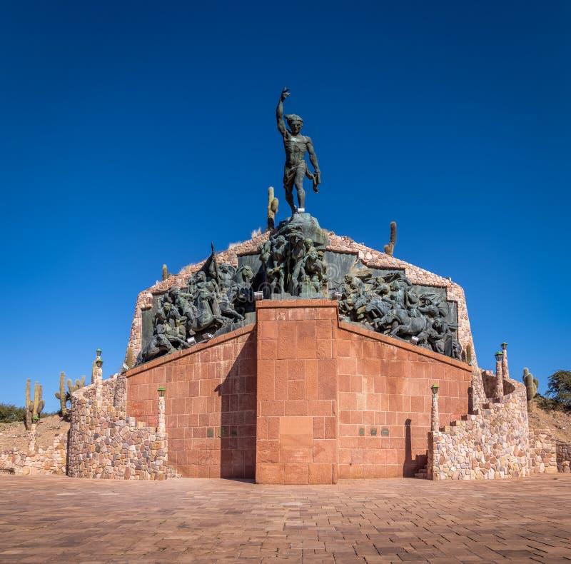 Ήρωες του μνημείου ανεξαρτησίας - Humahuaca, Jujuy, Αργεντινή στοκ φωτογραφίες