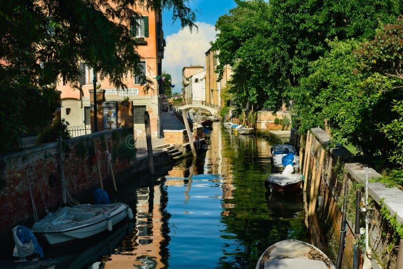 Ήσυχο κανάλι στη Βενετία Ιταλία στοκ εικόνα με δικαίωμα ελεύθερης χρήσης