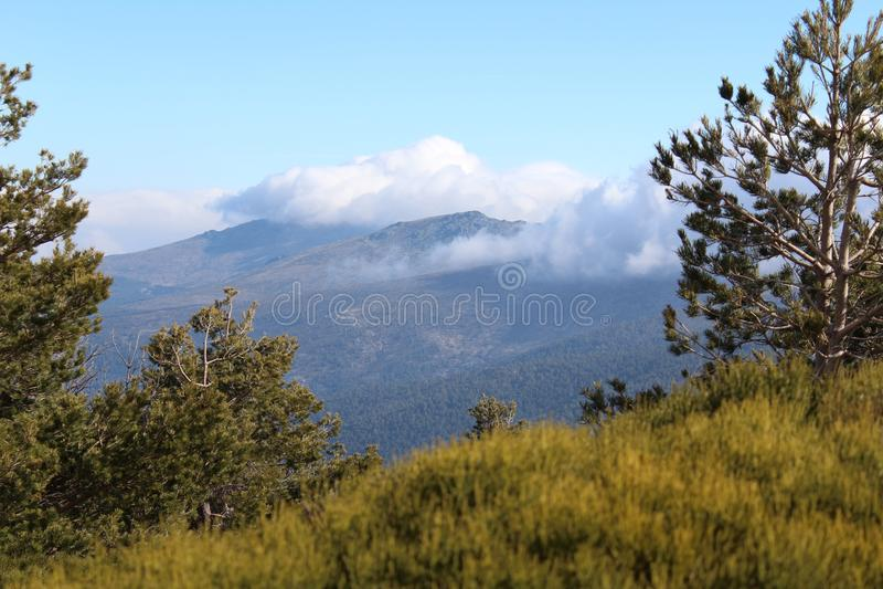 Ήχος αέρα βουνών στοκ εικόνες