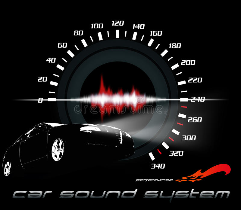 ήχος απόδοσης αυτοκινήτων ελεύθερη απεικόνιση δικαιώματος