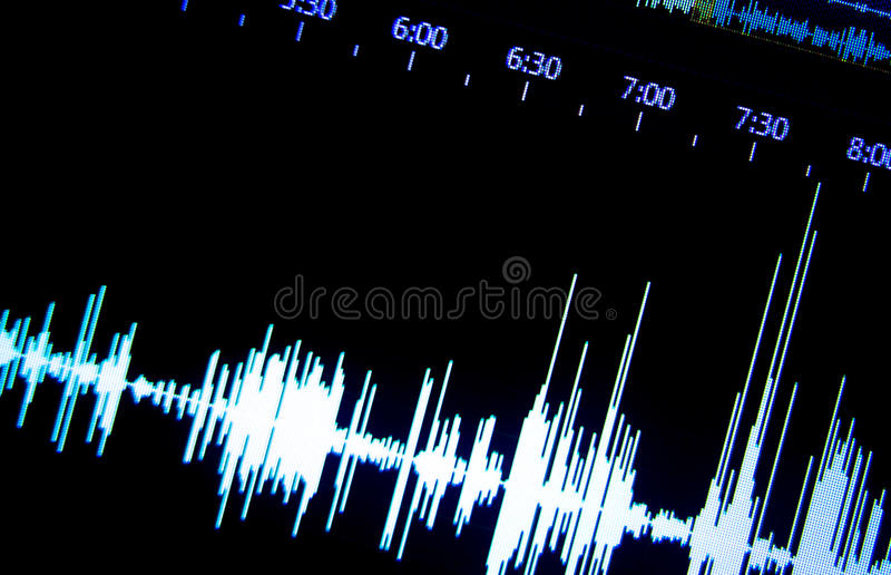 Ήχος στούντιο υγιούς καταγραφής στοκ εικόνες