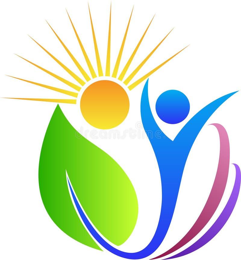 Ήλιος ατόμων φύλλων ελεύθερη απεικόνιση δικαιώματος