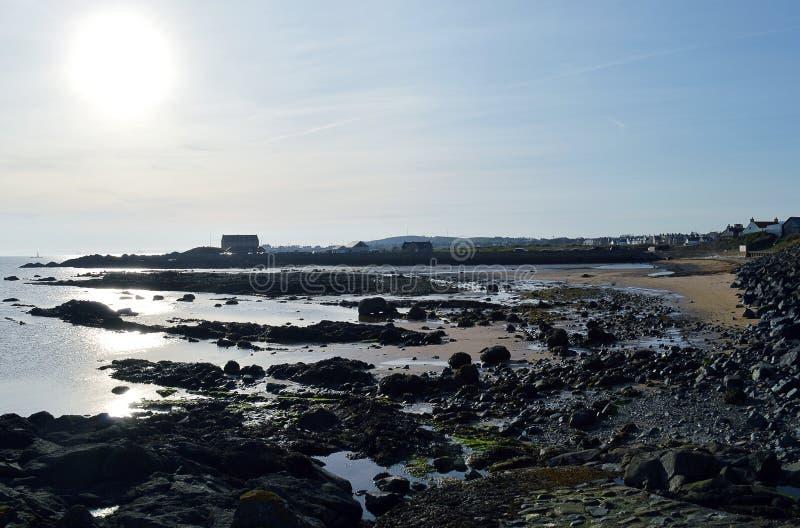 Ήλιος βραδιού, Elie, Fife, Σκωτία στοκ εικόνες
