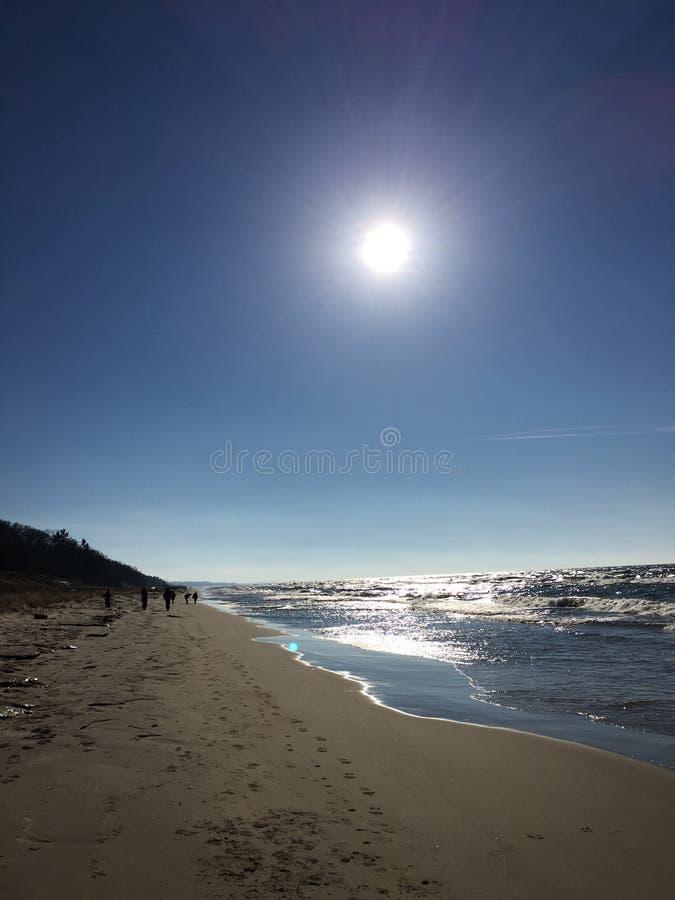 Ήλιος του Μίτσιγκαν λιμνών στοκ εικόνες