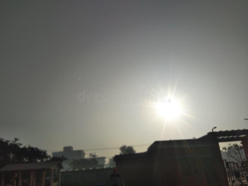 Ήλιος το πρωί στοκ φωτογραφία