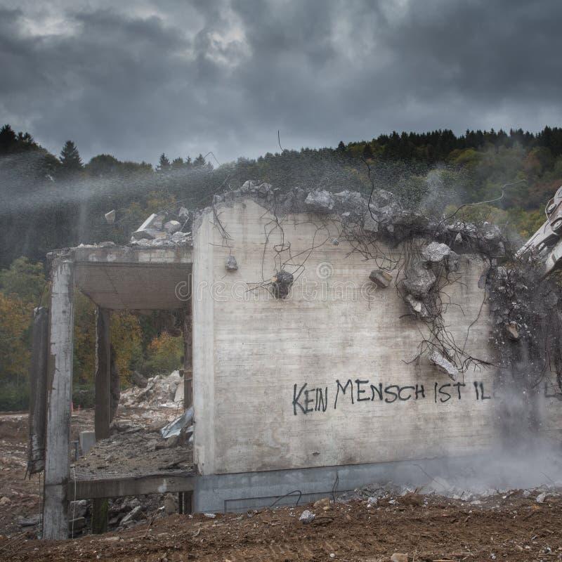 δήλωση στο κτήριο στη Γερμανία στοκ φωτογραφία