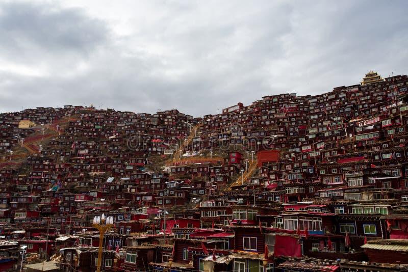 Ίδρυμα Λα Rong Wuming της Σέντα βουδισμού στοκ φωτογραφίες με δικαίωμα ελεύθερης χρήσης