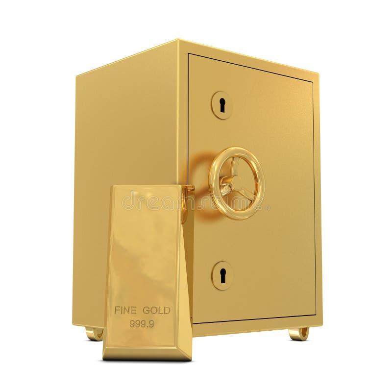 ίζημα ράβδων χρυσό ασφαλές διανυσματική απεικόνιση
