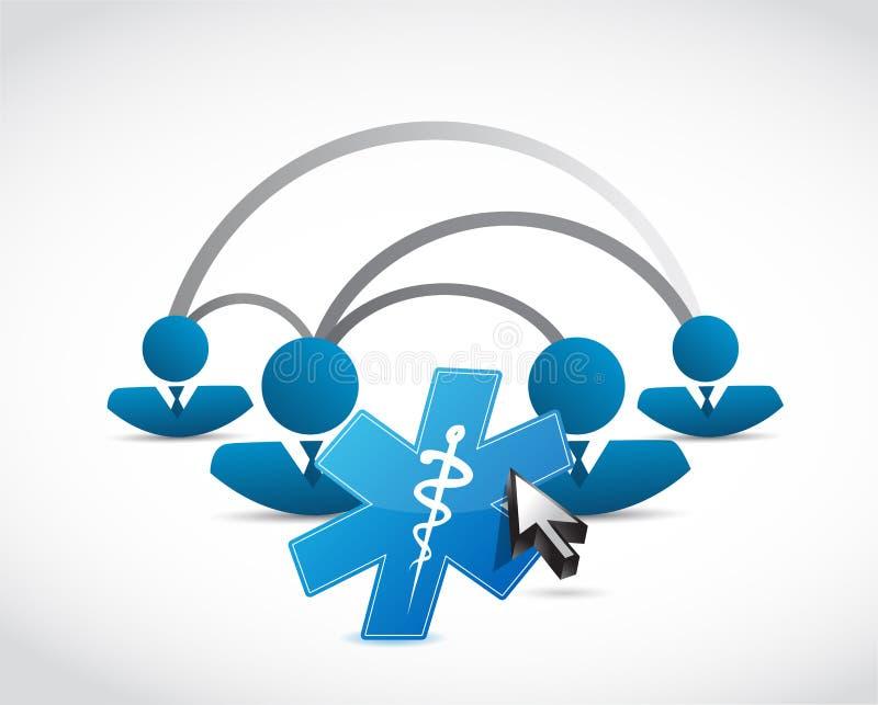 δίκτυο ανθρώπων και ιατρική έννοια συμβόλων ελεύθερη απεικόνιση δικαιώματος