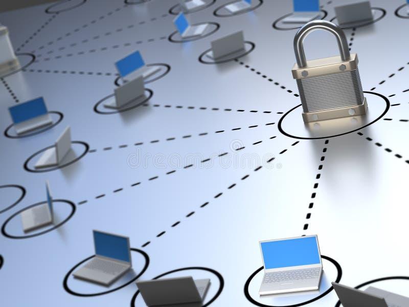 δίκτυο ασφαλές διανυσματική απεικόνιση