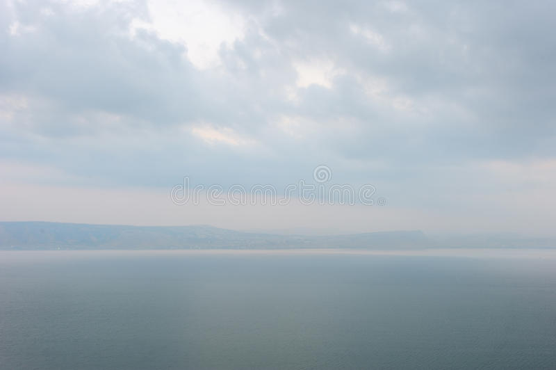 λίμνη αυγής kinneret στοκ εικόνες με δικαίωμα ελεύθερης χρήσης