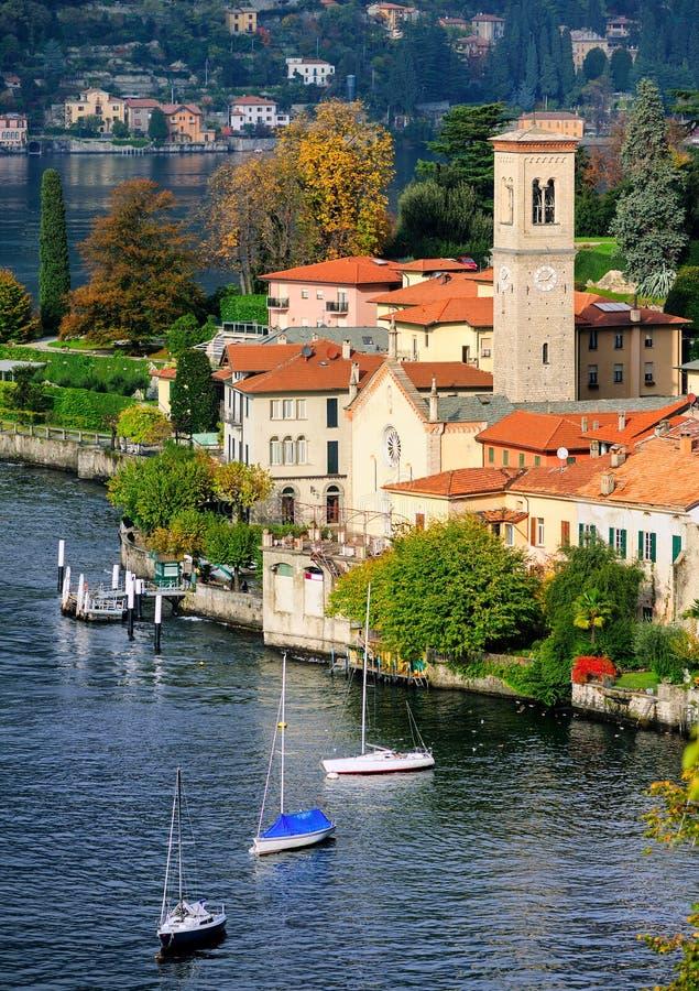 λίμνη της Ιταλίας como στοκ εικόνα
