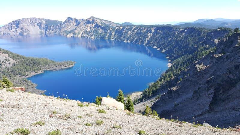 λίμνη Όρεγκον κρατήρων στοκ εικόνα