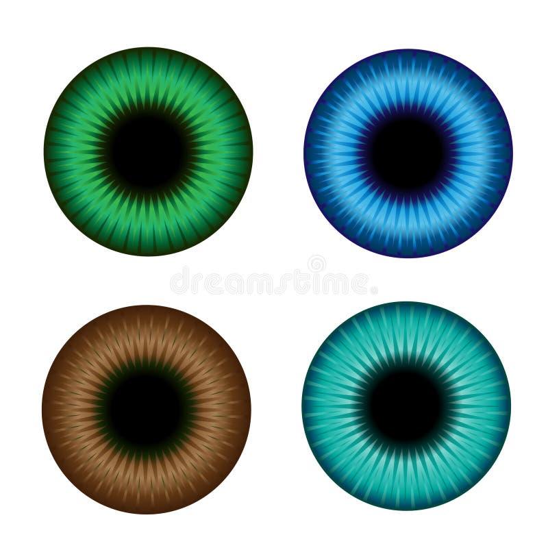 ίριδα χρώματος απεικόνιση αποθεμάτων