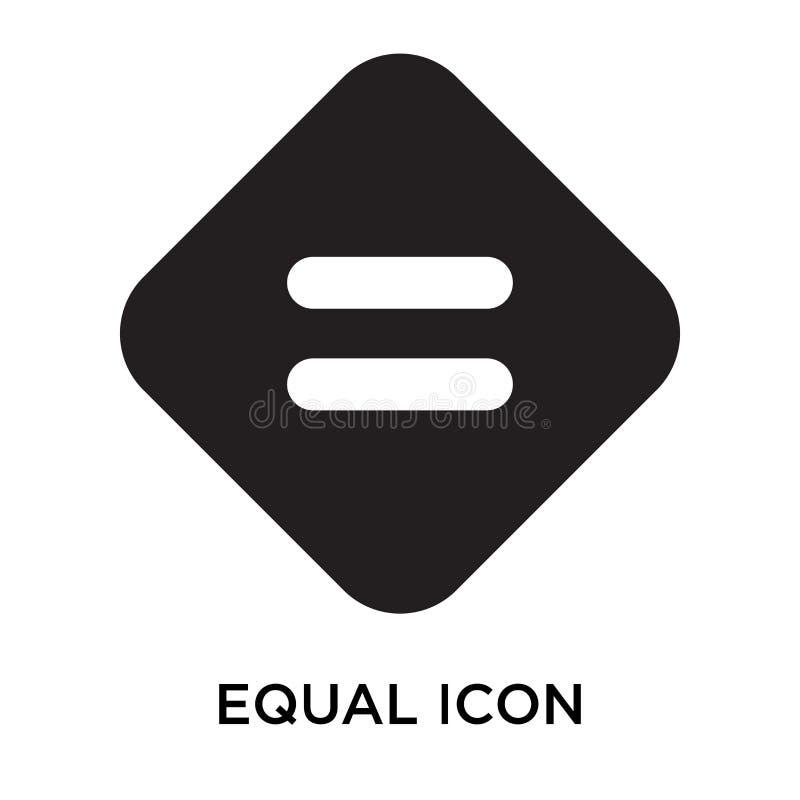 Ίσα διανυσματικά σημάδι και σύμβολο εικονιδίων που απομονώνονται στο άσπρο υπόβαθρο, διανυσματική απεικόνιση