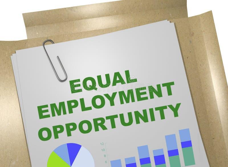 Ίση έννοια ευκαιρίας απασχόλησης διανυσματική απεικόνιση