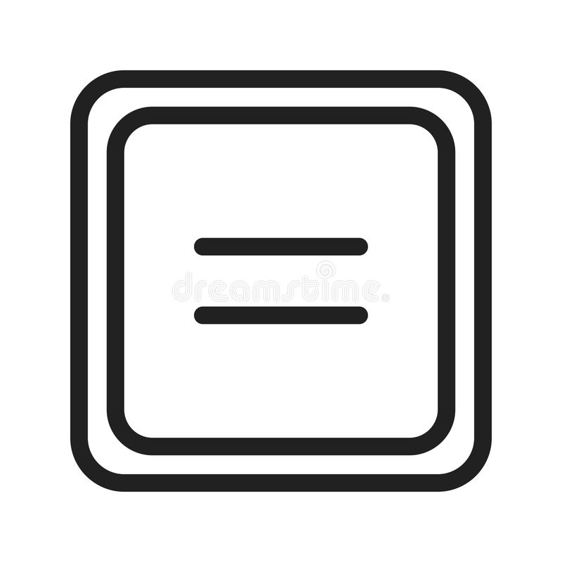 Ίσος στο σύμβολο απεικόνιση αποθεμάτων