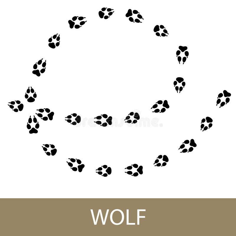 Ίχνη ζωικού Walf απεικόνιση αποθεμάτων