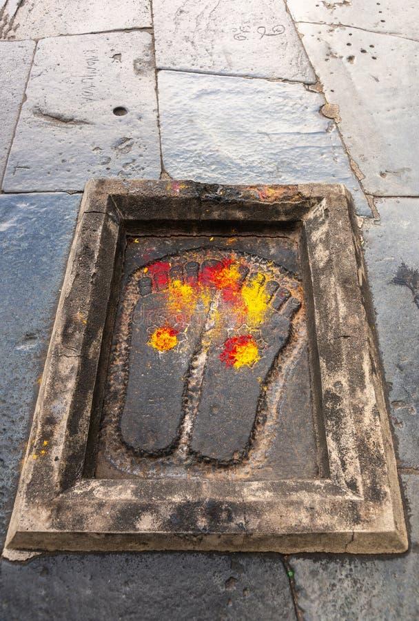 Ίχνη του Λόρδου Kesava στο ναό Chennakeshava σε Belur, Ινδία στοκ εικόνες με δικαίωμα ελεύθερης χρήσης