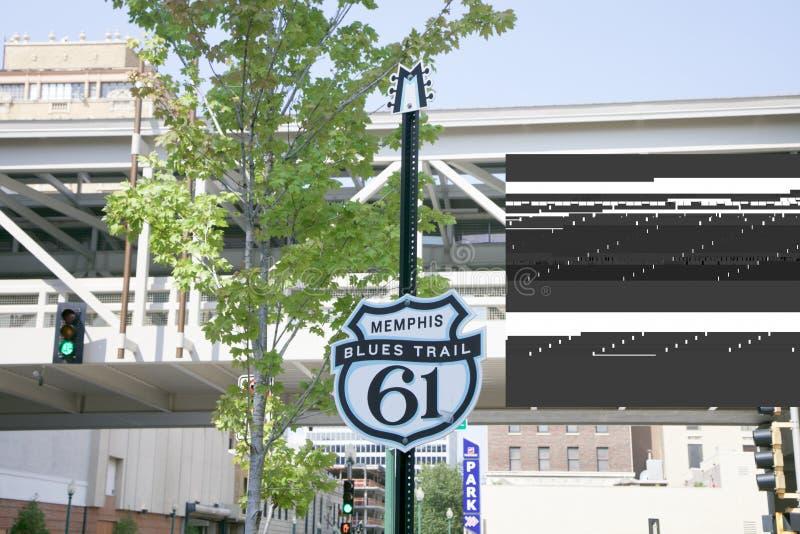Ίχνος 61 μπλε της Μέμφιδας στοκ εικόνα με δικαίωμα ελεύθερης χρήσης