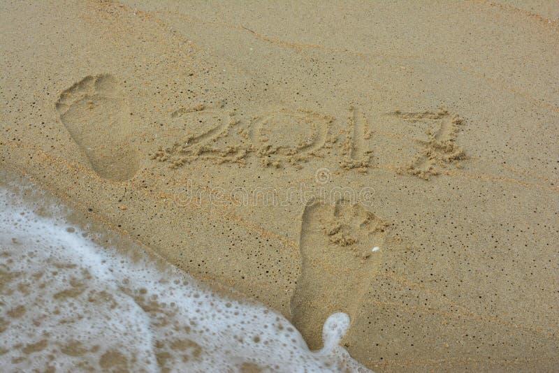 Ίχνος στην παραλία στοκ εικόνα με δικαίωμα ελεύθερης χρήσης