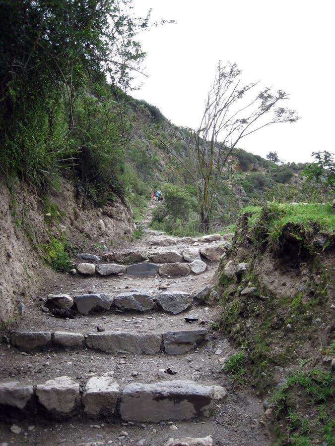 ίχνος του Περού inca στοκ εικόνες