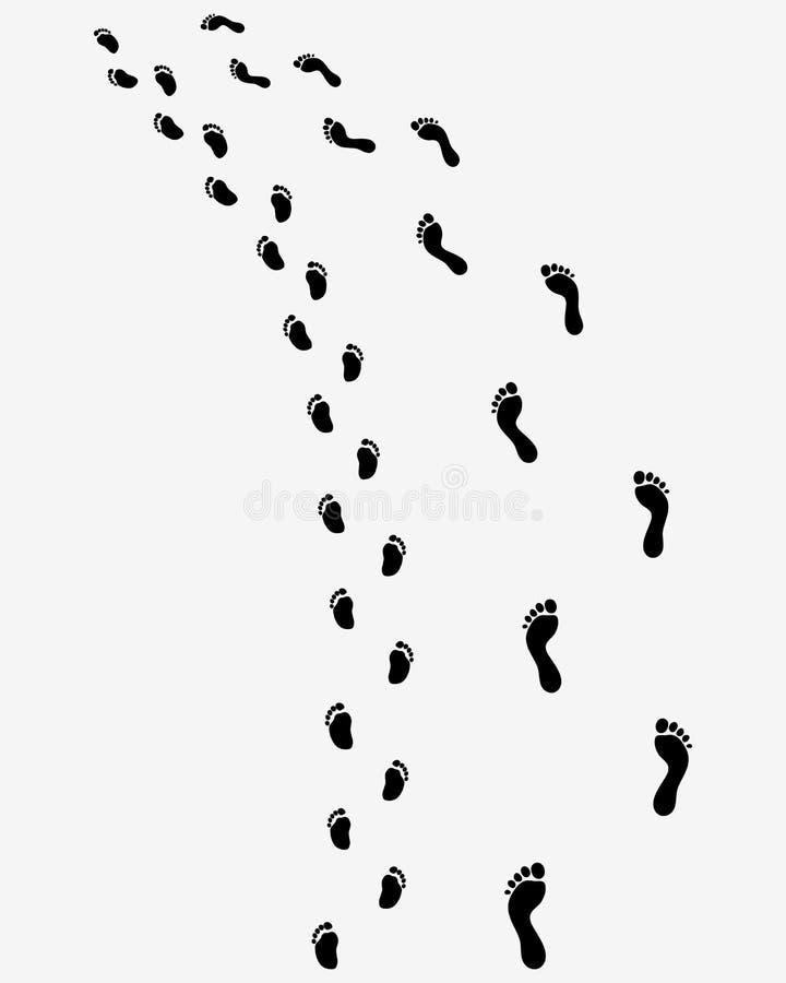 Ίχνος των γυμνών ποδιών διανυσματική απεικόνιση