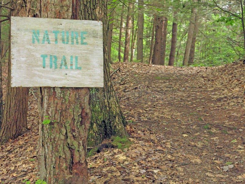 Ίχνος φύσης και σημάδι, Berkshires, μΑ στοκ φωτογραφίες με δικαίωμα ελεύθερης χρήσης