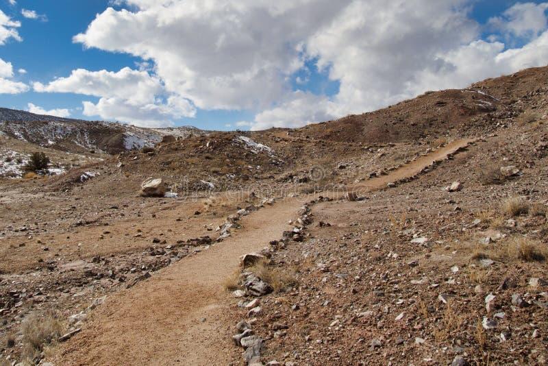 Ίχνος Hill δεινοσαύρων κοντά σε Fruita στοκ φωτογραφία