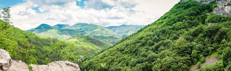 Ίχνος Vazov, βαλκανικά βουνά, Βουλγαρία στοκ φωτογραφία με δικαίωμα ελεύθερης χρήσης