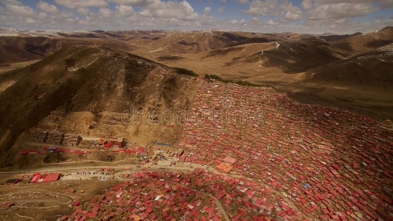 Ίδρυμα βουδισμού στο Θιβέτ στοκ εικόνα με δικαίωμα ελεύθερης χρήσης
