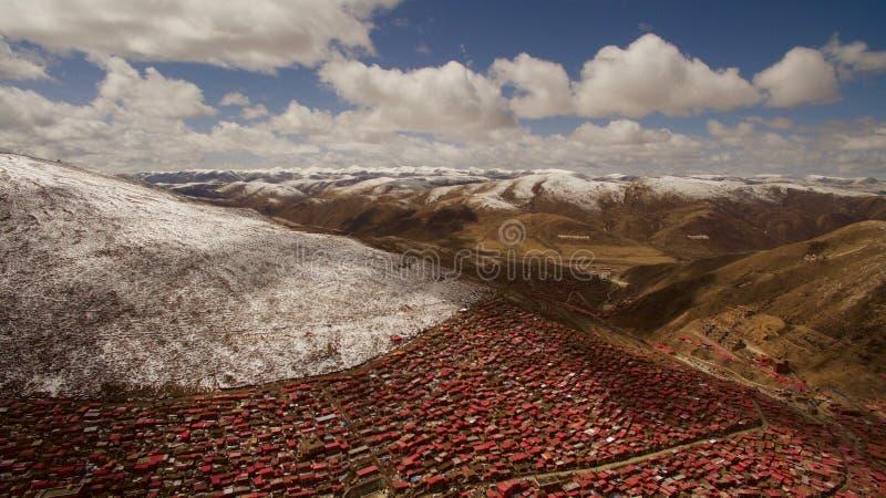 Ίδρυμα βουδισμού στο Θιβέτ στοκ φωτογραφία