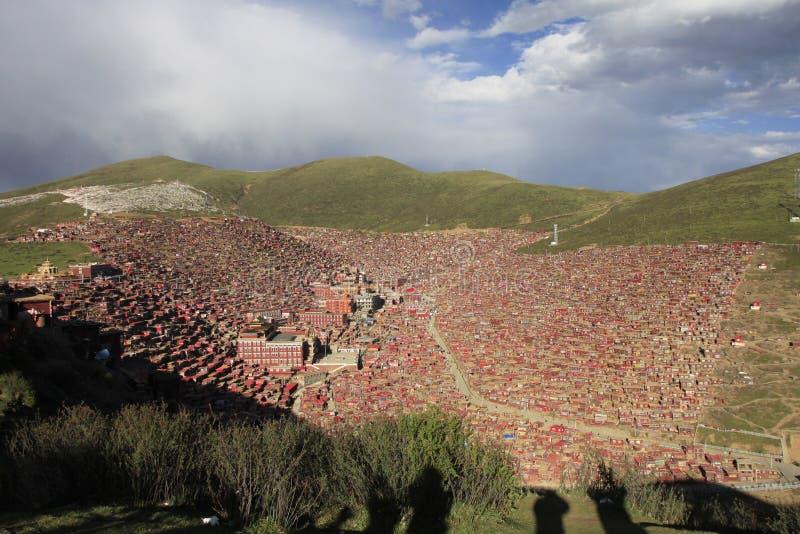 Ίδρυμα θιβετιανού βουδισμού στην Κίνα στοκ εικόνα με δικαίωμα ελεύθερης χρήσης