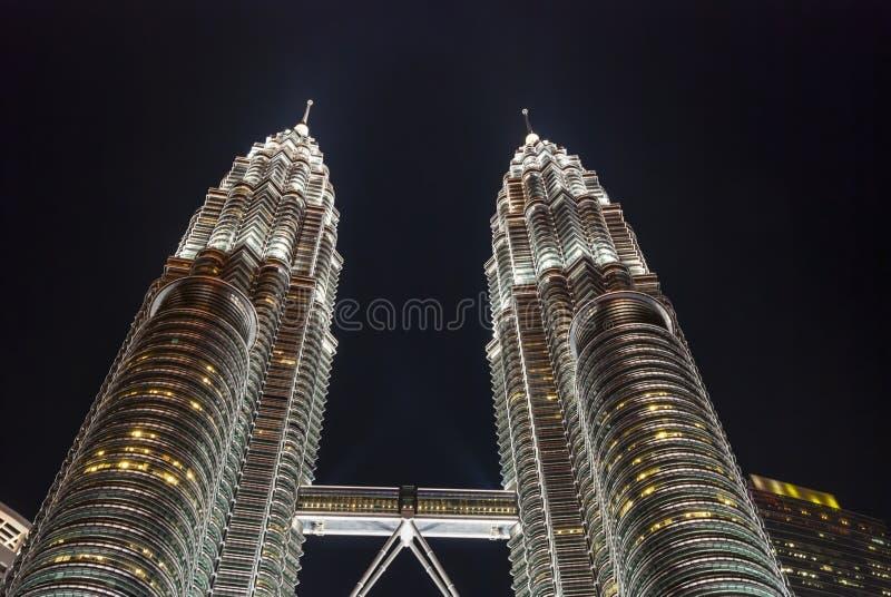 δίδυμο πύργων petronas νύχτας της &Kap στοκ φωτογραφία με δικαίωμα ελεύθερης χρήσης
