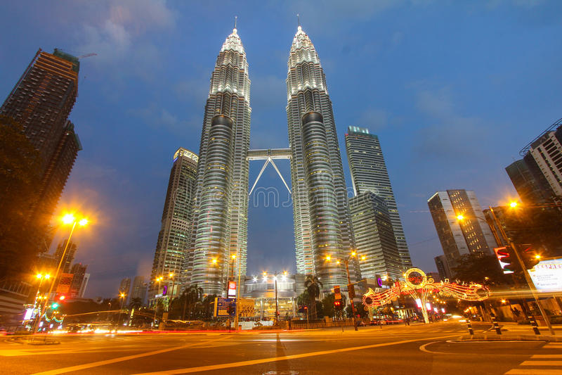 δίδυμο πύργων petronas της Κουάλα Λουμπούρ Μαλαισία στοκ φωτογραφίες