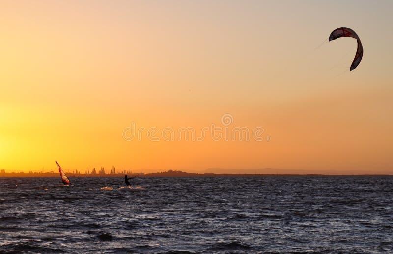αέρας ηλιοβασιλέματος &iot στοκ εικόνες
