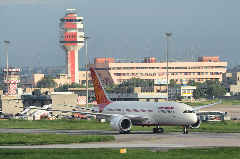 Αέρας Ινδία πρώτο Boeing 787 Dreamliner στοκ φωτογραφία με δικαίωμα ελεύθερης χρήσης