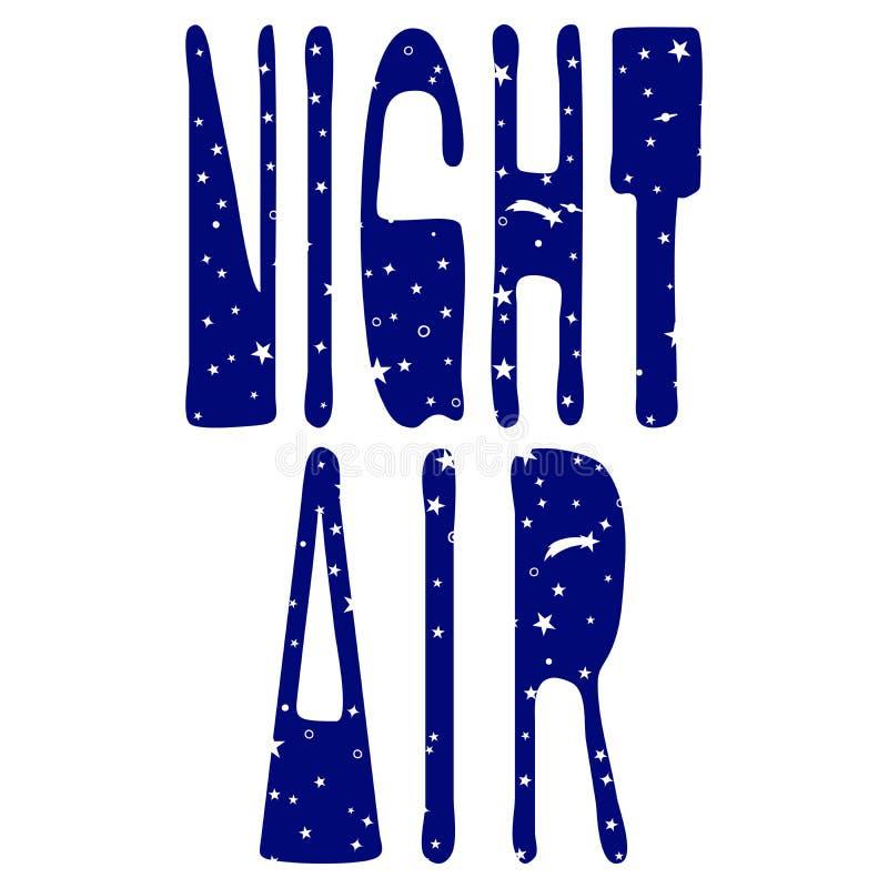 Αέρας νύχτας - που γράφει διανυσματική απεικόνιση