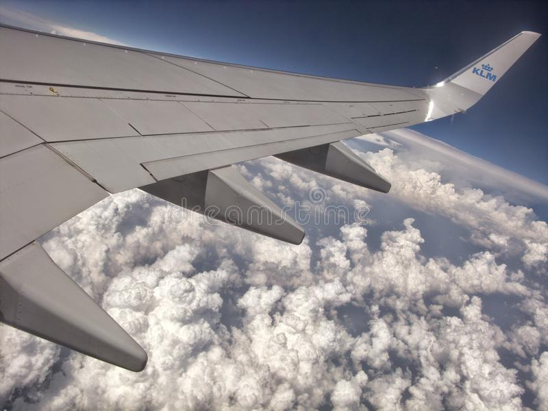Αέρας που ταξιδεύει από KLM Boeing 747 στοκ εικόνες