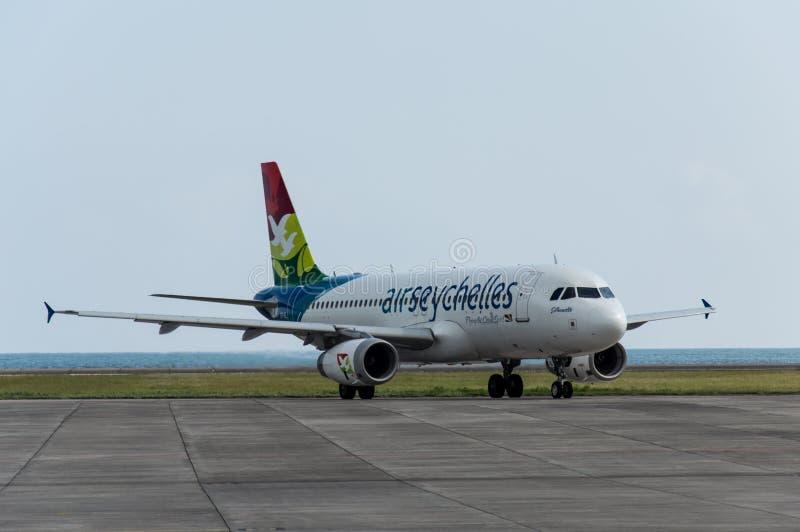 Αέρας Σεϋχέλλες στον αερολιμένα Praslin στοκ φωτογραφία με δικαίωμα ελεύθερης χρήσης