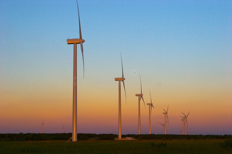 αέρας στροβίλων ηλιοβασιλέματος στοκ φωτογραφίες με δικαίωμα ελεύθερης χρήσης