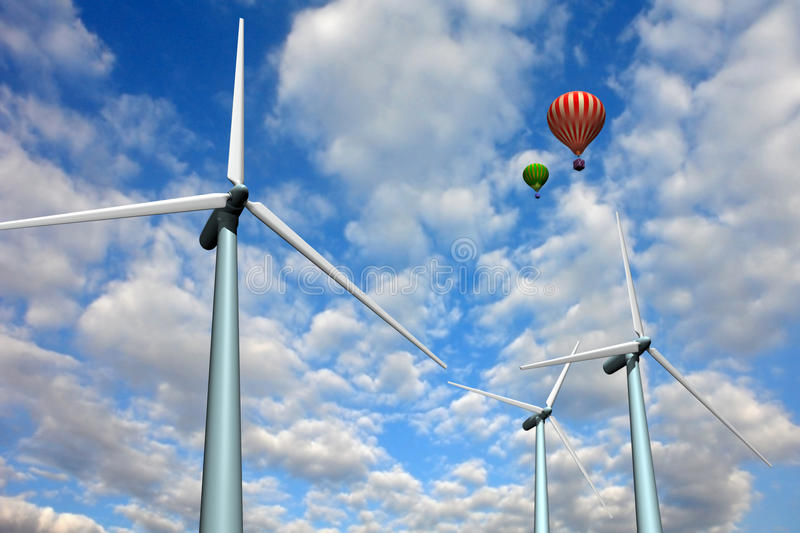 Download αέρας στροβίλων τοπίων μπα&l Απεικόνιση αποθεμάτων - εικονογραφία από οικολογία, αποδοτικότητα: 13190052
