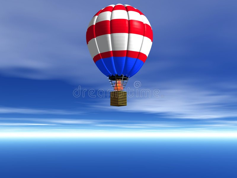 αέρας baloon στοκ εικόνα
