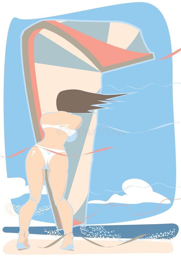 Αέρας Kiteboarding στοκ εικόνα