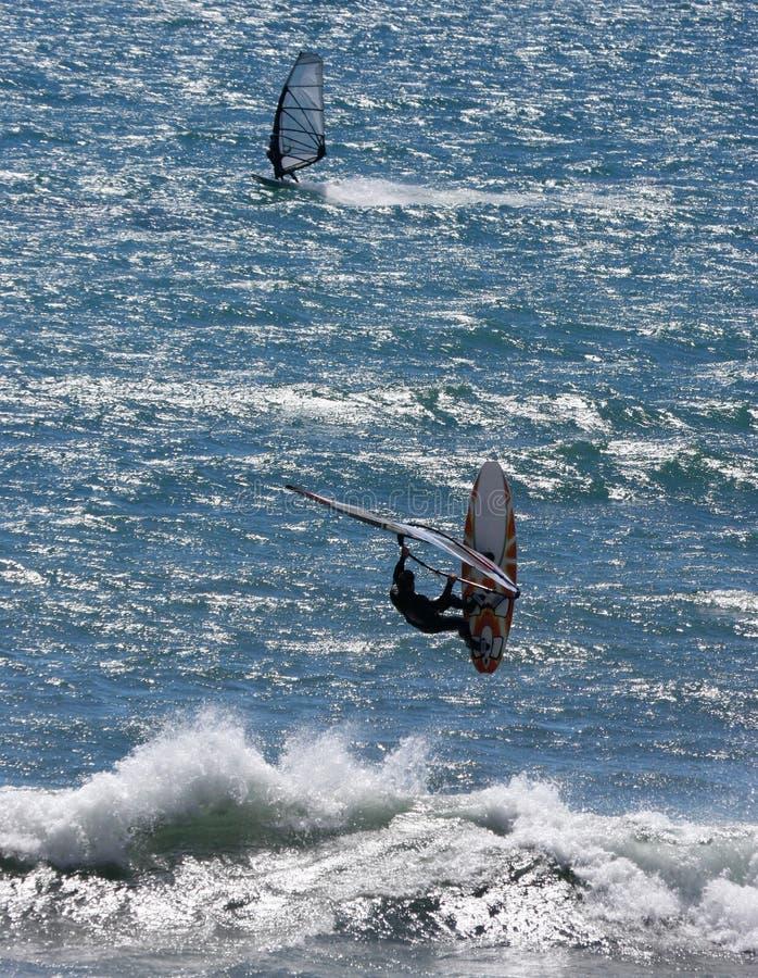 αέρας surfers στοκ εικόνες