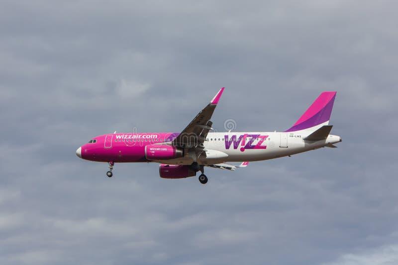 Αέρας Wizz - airbus A320 στοκ φωτογραφία με δικαίωμα ελεύθερης χρήσης