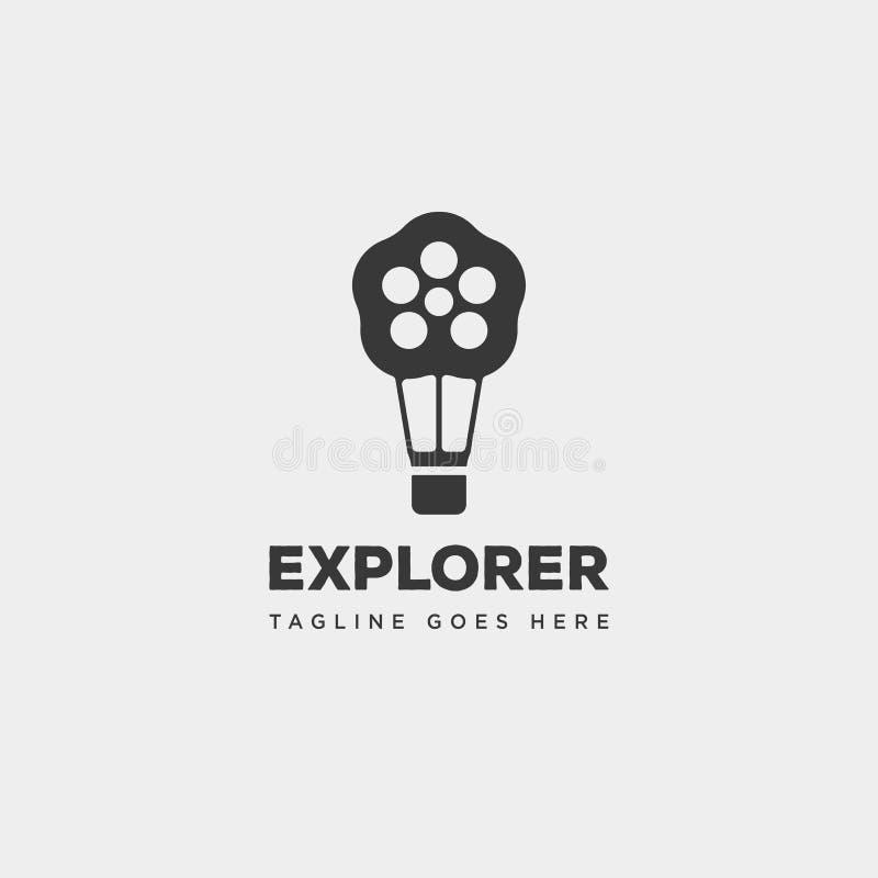 αέρα μπαλονιών κινηματογράφων κινηματογράφων ταινιών διανυσματική απεικόνιση προτύπων λογότυπων ρόλων απλή ελεύθερη απεικόνιση δικαιώματος