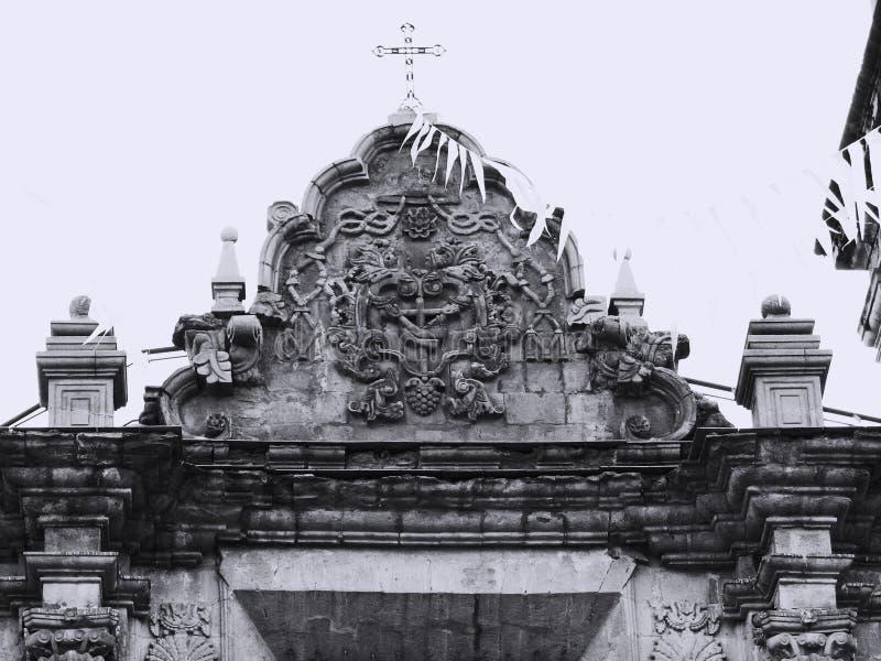 Αέτωμα της εκκλησίας του Σαν Φρανσίσκο στο Λα Παζ/Βολιβία στοκ φωτογραφία με δικαίωμα ελεύθερης χρήσης