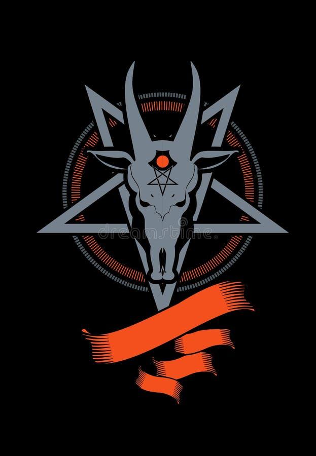Αίγα συμβόλων Pentagram ελεύθερη απεικόνιση δικαιώματος