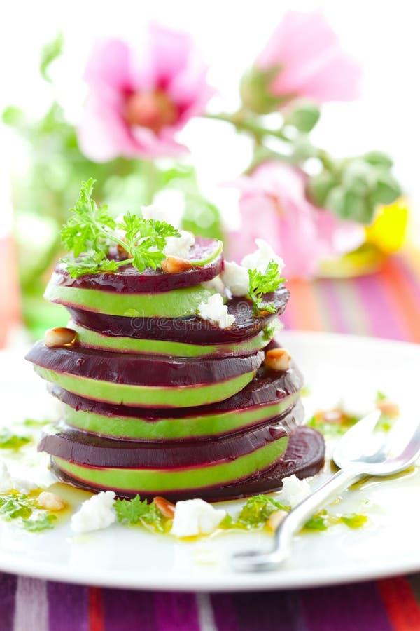 αίγα τυριών παντζαριών αβο&kap στοκ φωτογραφία με δικαίωμα ελεύθερης χρήσης